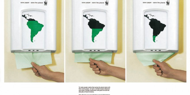 Salvar el papel es salvar el planeta